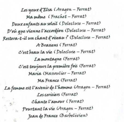 PROGRAMME SOIREE J. FERRAT 2