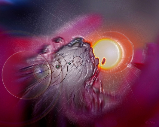 anemone bas relief